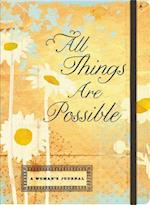 All Things Are Possible-Inspirational Message Blank Journals af Ellie Claire