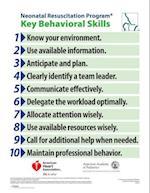 Neonatal Resuscitation Program Key Behavioral Skills Poster (Nrp)