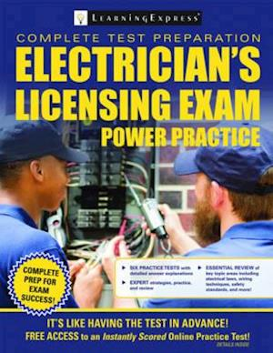 Bog, paperback Electrical Licensing Exam Power Practice af LearningExpress