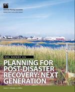 Planning for Post-Disaster Recovery af James C. Schwab