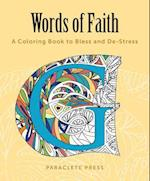 Words of Faith Adult Coloring Book
