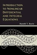 Introduction to Nonlinear Differential and Integral Equations af Harold T. Davis