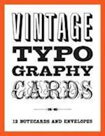 Vintage Typography Notecards
