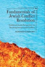 Fundamentals of Jewish Conflict Resolution (Studies in Orthodox Judaism)
