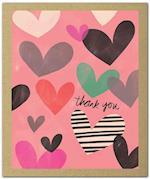 Hearts Aflutter Green Thanks