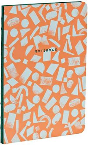 Terracotta A5 Notebook with Dot-Grid Pages and Exposed Binding, Lays Flat