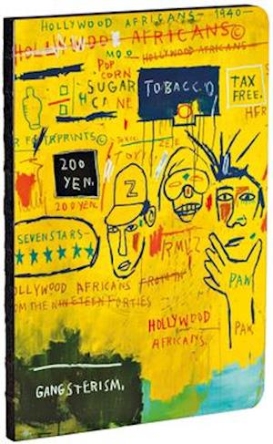 Hollywood Africans by Jean-Michel Basquiat A5 Notebook, Dot-Grid Pages, Exposed Binding Lays Flat
