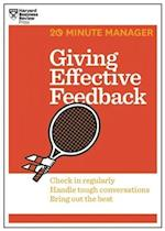 Giving Effective Feedback (HBR 20-Minute Manager Series) (20 minute Manager)