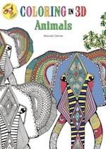 Coloring in 3d Animals Adult Coloring Book (Coloring in 3d)