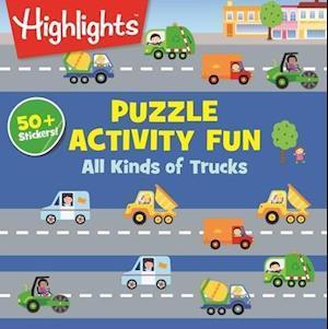 Bog, paperback All Kinds of Truck Puzzles af Highlights