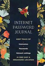 Modern Floral Internet Password Logbook