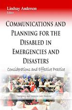 Communications and Planning for the Disabled in Emergencies and Disasters af Lindsay Anderson