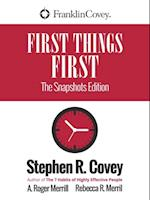 First Things First af Stephen Covey