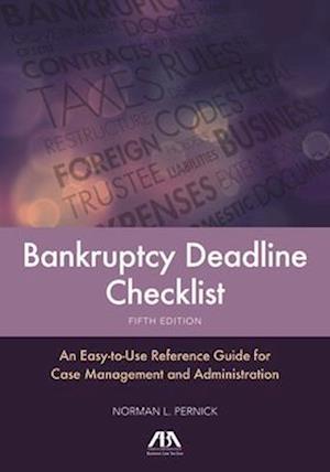Bog, paperback Bankruptcy Deadline Checklist af Norman L. Pernick
