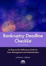 Bankruptcy Deadline Checklist