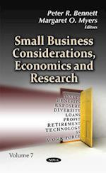 Small Business Considerations, Economics & Research af Peter R. Bennett
