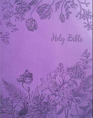 KJV Sword Study Bible Personal Size Large Print Designer Purple Ultrasoft Indexed