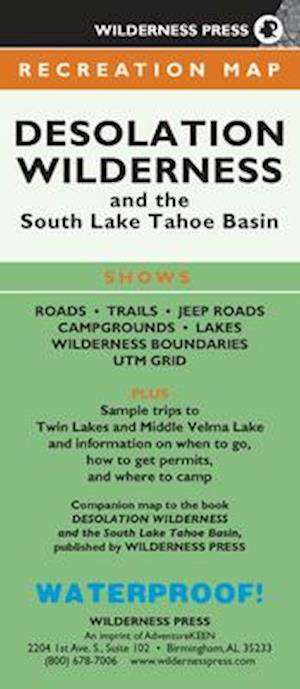 Map Desolation Wilderness and the South Lake Tahoe Basin
