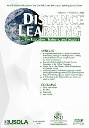 Distance Learning  - Volume 17  Issue 1  2020