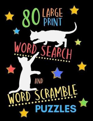 80 Large Print Word Search And Word Scramble Puzzles