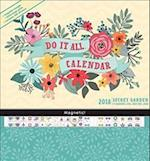 Secret Garden Do It All 17 Months 2018 Calendar