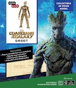 Marvel Guardians of the Galaxy Groot Book + 3d Wood Model (Incredibuilds)