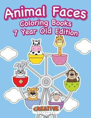 Bog, hæftet Animal Faces Coloring Books 7 Year Old Edition af Creative Playbooks