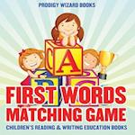 First Words Matching Game