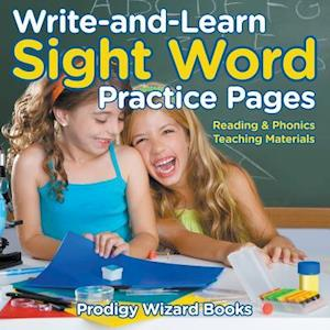 Bog, hæftet Write-and-Learn Sight Word Practice Pages | Reading & Phonics Teaching Materials af Prodigy Wizard Books