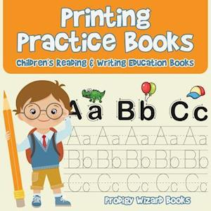 Bog, hæftet Printing Practice Books : Children's Reading & Writing Education Books af Prodigy Wizard
