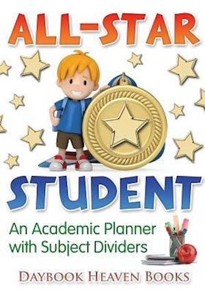 Bog, hæftet All-Star Student - An Academic Planner with Subject Dividers af Daybook Heaven Books