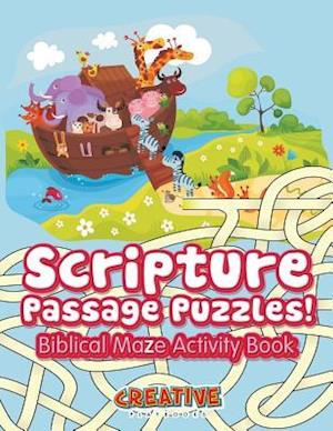 Bog, hæftet Scripture Passage Puzzles! Biblical Maze Activity Book af Creative Playbooks