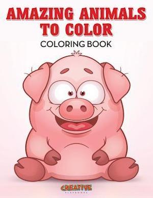 Bog, hæftet Amazing Animals to Color Coloring Book af Creative Playbooks