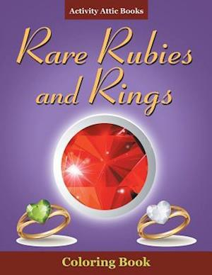 Bog, hæftet Rare Rubies and Rings Coloring Book af Activity Attic Books