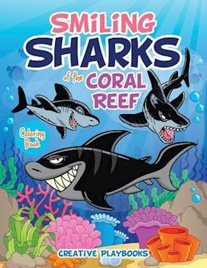 Bog, paperback Smiling Sharks of the Coral Reef Coloring Book af Creative Playbooks