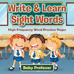 Write & Learn Sight Words | High Frequency Word Practice Pages
