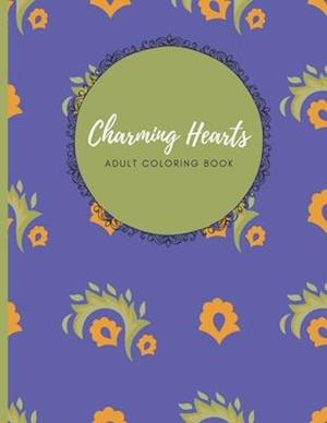 Charming Hearts Adult Coloring Book