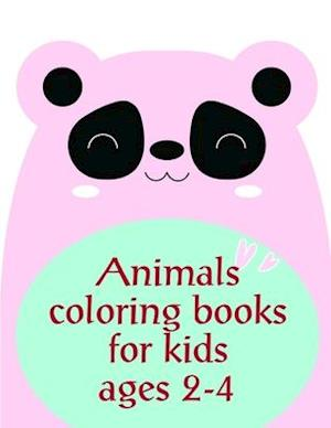 Animals coloring books for kids ages 2-4