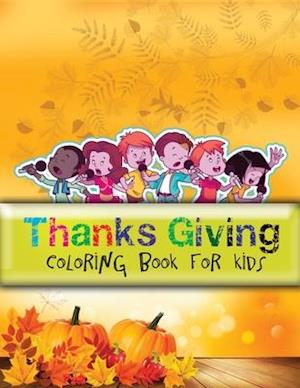Thanks giving coloring book for kids