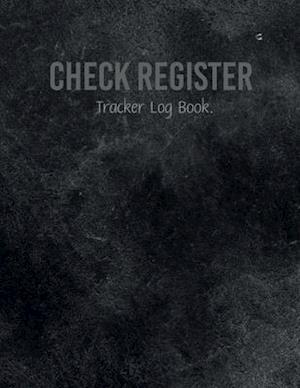 Check Register Tracker Log Book.