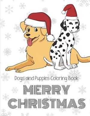 Dogs And Puppies Coloring Book Merry Christmas