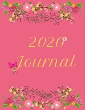 2020 Pink and Green Floral Notebook