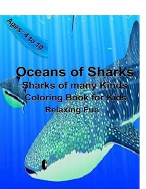 Oceans of Sharks Coloring book