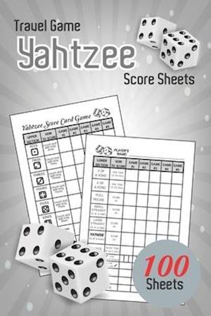 Travel Game Yahtzee Score Sheets