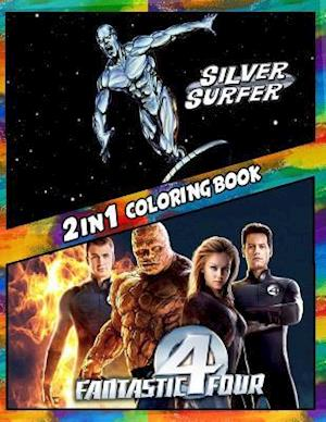 2 in 1 Coloring Book Fantastic Four and Silver Surfer