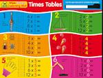 School Zone Wipe Clean Learning Mats: Times Tables