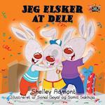 Jeg Elsker at Dele (Danish Bedtime Collection)