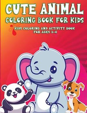 Cute AnimalColoring Book  For Kids