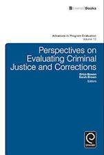 Perspectives On Evaluating Criminal Justice and Corrections (ADVANCES IN PROGRAM EVALUATION, nr. 13)