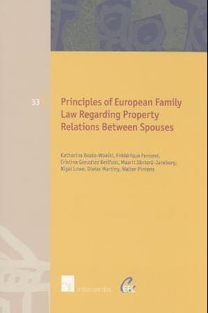Principles of European Family Law Regarding Property Relations Between Spouses